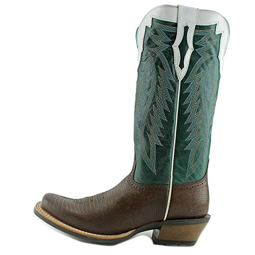 Ariat Mujeres Chocolate Futurity Lizard Imprimir Cowgirl Bota Square Toe - 10018541 Lagarto De Chocolate Imprimir
