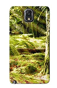 Fashion Protective Trees Nature Forests Landscapes Sunlight Sunbeams Sunrays Spring Seasons Case Cover Design For Galaxy Note 3