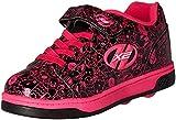 Heelys Girls' Dual up x2 Sneaker, Black/Hot Pink/Print, 3 M US Little Kid