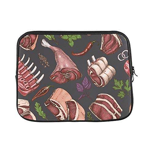 (Design Custom Steak Meat Fried Delicious Food Idea Sleeve Soft Laptop Case Bag Pouch Skin for Air 11