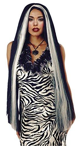 SALES4YA Costume-Wig 36 Inch Long White Streaked Halloween Costume - 1 size ()