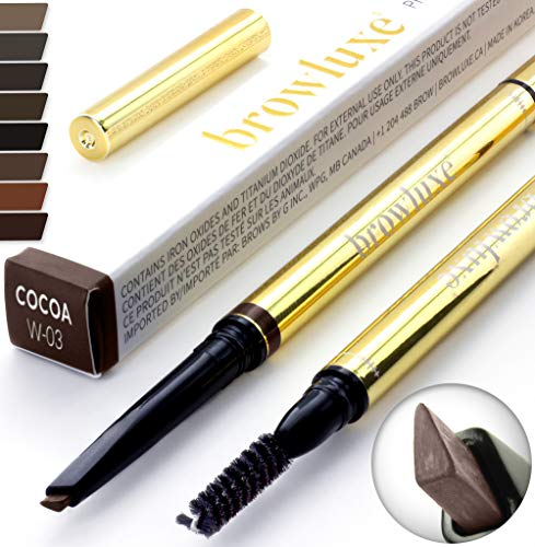 Eyebrow Pencil: Best Brow Pen Makeup Pencils & Spoolie Brush For ALL Eye Brows (COCOA) In 8 Hair COLOR of Waterproof Brown, Blonde, Black, Gray & Light Red Tint Kit By Pro Microblading Women Stylist (Best Eyeshadow Palette For Brown Eyes 2019)