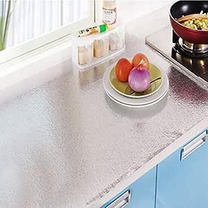 موقد المطبخ مقاوم للماء ودرجة حرارة عالية البرتقال قشر الزيت الألومنيوم رقائق لاصقة قشر والعصا خلفيات خزانة الزيت الحفاظ على النفط أبخرة الجدار ملصق