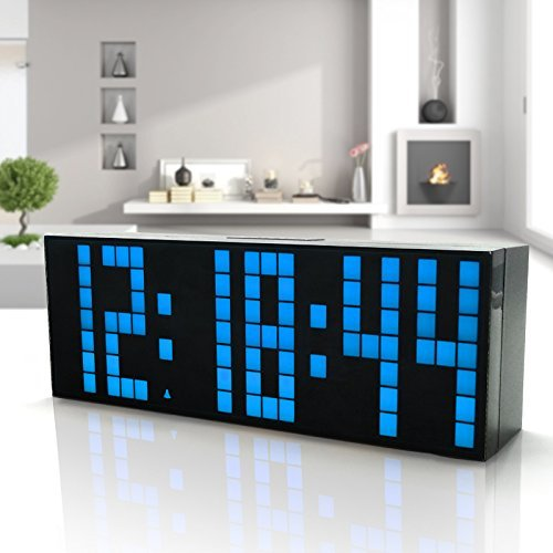 HOMEE Clock-multi function led alarm clock simple creative alarm clock personal digital bedside alarm clock,N by HOMEE