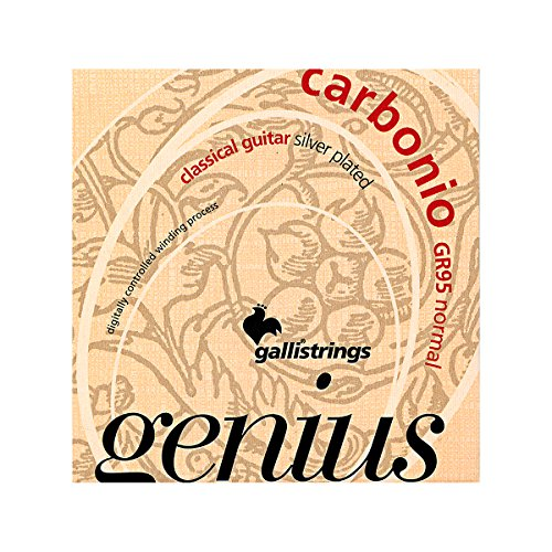 Galli Strings GR95 GENIUS CARBONIO Nylon Coated Silverplated NormalTension Classical Acoustic Guitar Strings - Galli Guitar Strings