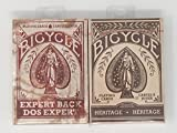 Bicycle Deck of Cards 2-Pack Combination Vintage Distressed Gift Set Bundle