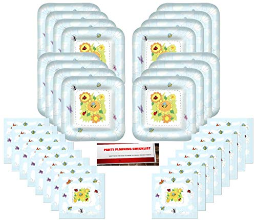 Bumble Bees Ladybug Party Supplies Bundle Pack for 16 (Plus Party Planning Checklist by Mikes Super - Themed Ladybug Party