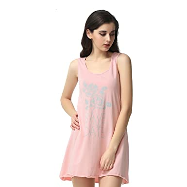 d1bdf670fcf5 QIANXIU Lady Sexy Cute Nightgowns Comfortable Cotton Pajamas (XXL ...