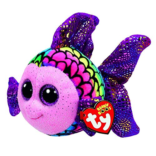 Ty Beanie Boos - Ty Beanie Boos 10 Quot 25cm Flippy Color Fish Plush Medium Soft Big Eyed Stuffed Animal Collectible - Rusty Small Rabbit Platypus Goat Sketch Zinger Coloring Regular Book Cube G from Unknown