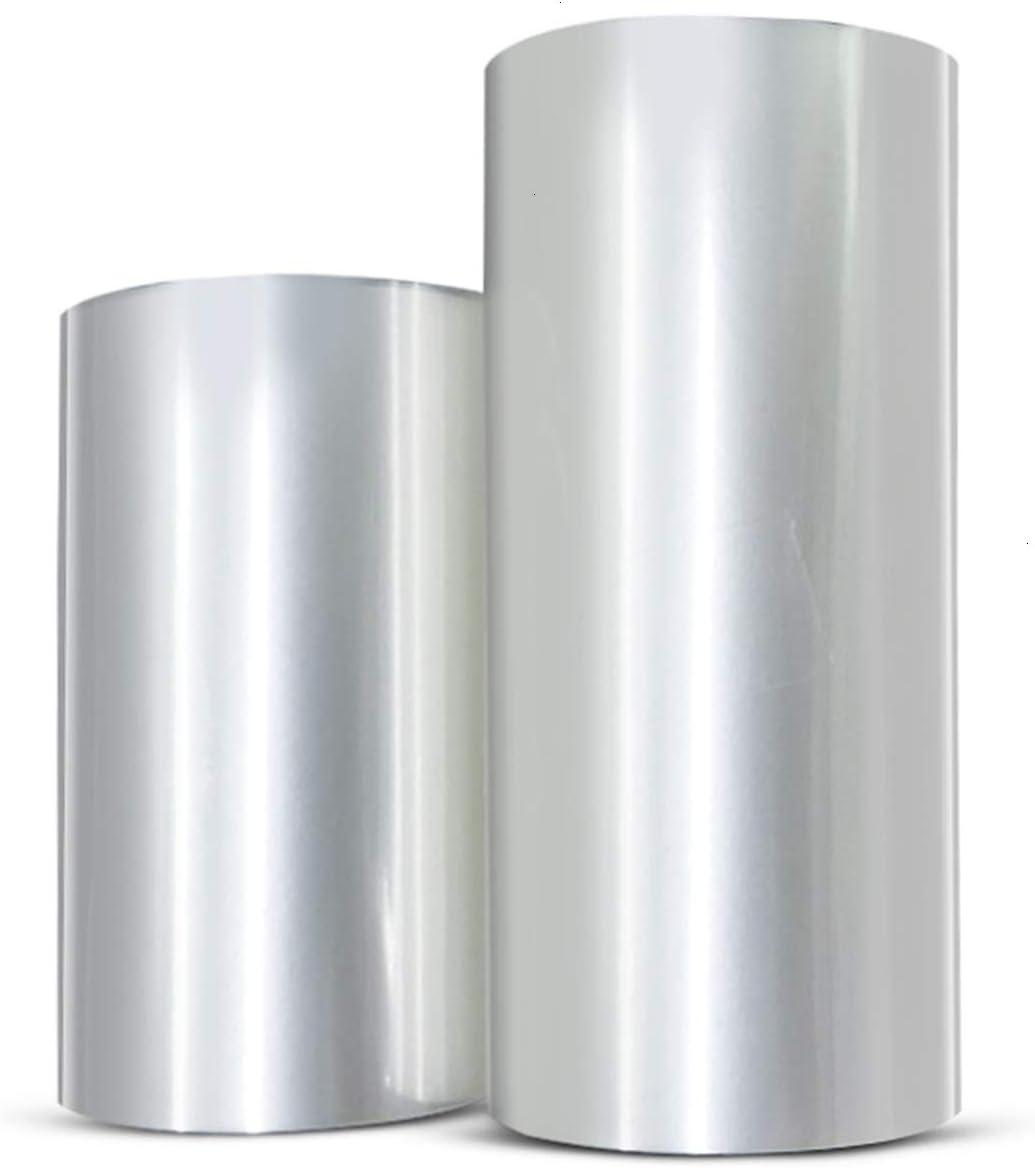 WEFOO 2 Rolls Mousse Cake Collar Transparent Membrane Baking Surrounding Edge Tape Perimeter Decorating Acetate Sheet (8cmx10m/10cmx10m)