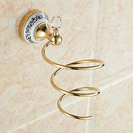 ZYZX Estilo Europeo Rack secador de Pelo Dorado Antiguos no Sucker Punch secador de Pelo Titular
