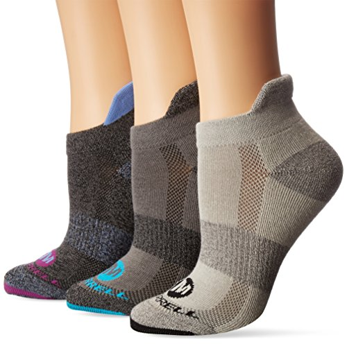 (Merrell Women's 3 Pack Performance Low Cut Tab Socks, black marl Shoe Size: 4-9.5)