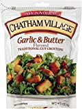 Chatham Village Large Cut Garlic & Butter Croutons, 5-Ounce Bags (Pack of 12)