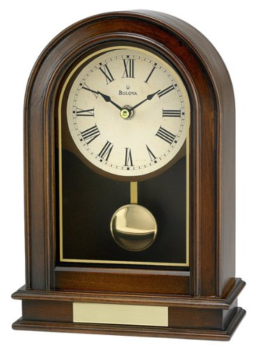 Bavarian Walnut - Bulova B7467 Hardwick Clock, Walnut Finish