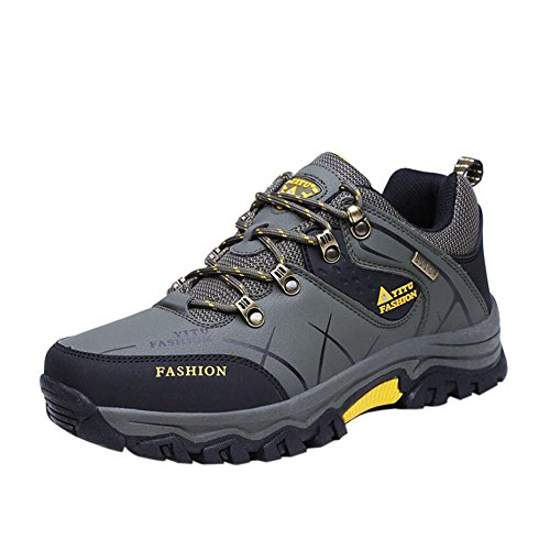 Zhuhaixmy Herren Wanderschuhe High Top Trekking Schuhe Rutschfeste Outdoor Warm Waterproof Walking Klettern Sneakers Dunkelgrün