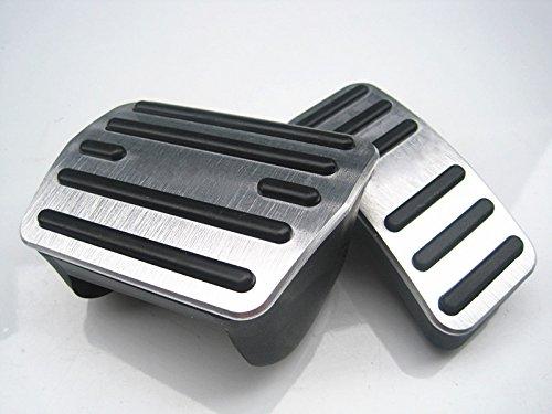 F/ür Kodiak Auto Bremse Gaspedal Pedalabdeckung Pedalkappe Pedalset Aluminiumlegierung PPE-Gleitschutz AT zwei