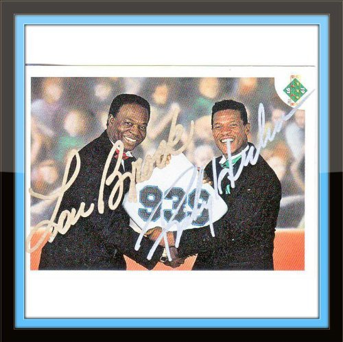 Henderson Autographs (Lou Brock Ricky Henderson Autograph On Card with Certificate of Authenticity)