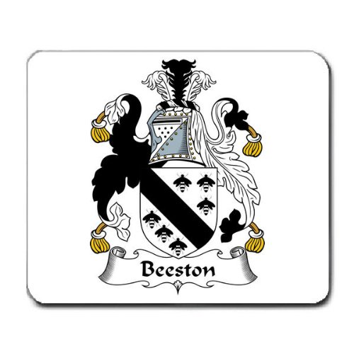 Beeston Family Crest Coat Of Arms Mouse Pad