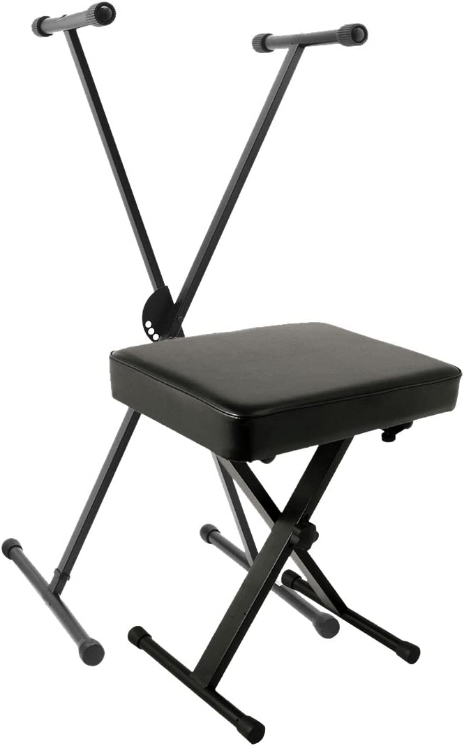 World Tour Single X Keyboard Stand and Deluxe Bench Package