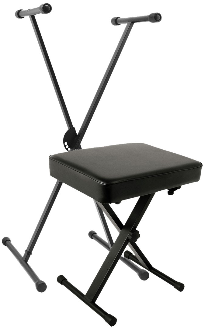 World Tour Single X Keyboard Stand Deluxe Bench Package