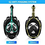 Greatever G2 Full Face Snorkel Mask with Latest Dry