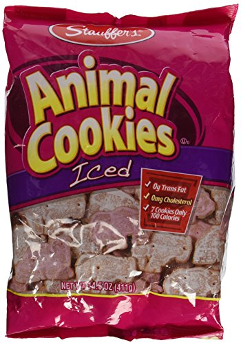 - Stauffers Animal Cookies, Iced 14.5 Oz