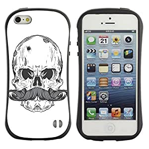 High quality Case for Apple iPhone 5 5S / Cool Skull & Moustache