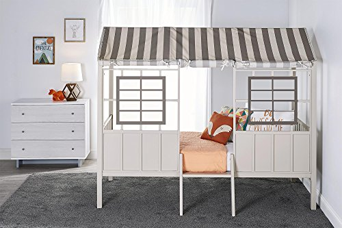 Little Seeds Rowan Valley Forest Loft Bed, Grey/Taupe, -