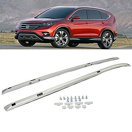 Honda CR-V 2012 - 2016 barras de techo plateadas para equipaje de carga SUV Top Cross Bares: Amazon.es: Coche y moto