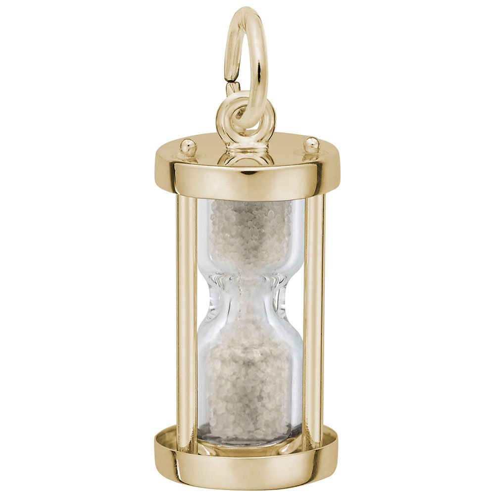 10k Yellow Gold Hourglass Charm, Charms for Bracelets and Necklaces