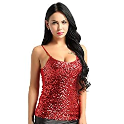 Sequin Camisole Shiny Crop Top