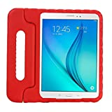 Lumcrissy Samsung Galaxy Tab A 8.0 Kids Case, EVA ShockProof Kiddie Case Super Protection and Lightweight Convertible Handle Stand Kids Friendly Cover for Samsung Galaxy Tab A 8-inch Tablet SM-T350 (Red)