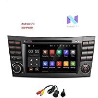 MCWAUTO Android 7.1 for Mercedez-Benz E-Class W211/W219 7 Inch Quad Core Car Stereo Capacitive Touch Screen DVD Player GPS 1080P Video Screen Mirroring OBD2 CANbus with Rear Camera
