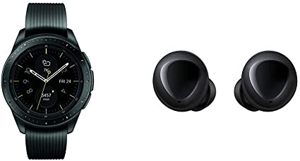 Samsung Galaxy Smartwatch (42mm) Midnight Black (Bluetooth) SM-R810NZKAXAR – US Version with Warranty & Galaxy Buds, Bluetooth True Wireless Earbuds, ...