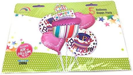 AEX Globos inflables Feliz Cumpleaños, 5 Diseños (Rosa ...