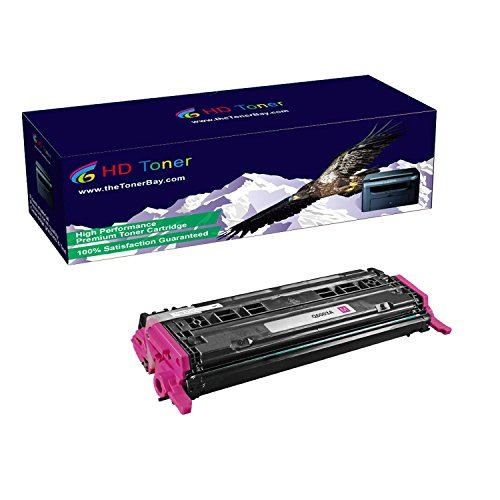 HD Toner TM Compatible 1 Pack Q6003A Magenta Toner Cartridges For HP Color LaserJet 1600, 2600N, High Yield 2000 (Q6003a Compatible Magenta Laser)