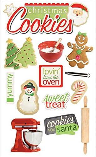 KAREN FOSTER DESIGN COZY CHRISTMAS HOME CHRISTMAS CARDSTOCK SCRAPBOOK STICKERS