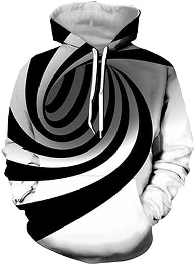 Women Men 3D Print Hypnosis Round Dizziness Casual Sweater Sweatshirt Hoodies