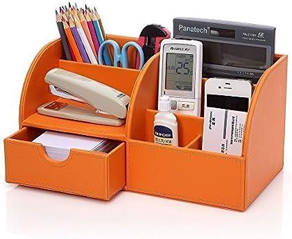 Porta Penne Multifunzione Forniture Per Ufficio Scatola Desktop Scatola Di Finitura Porta Cancelleria Per Studenti Portapenne Portapenne-Arancione