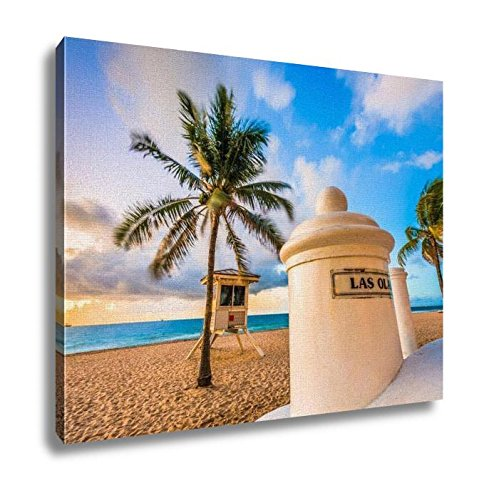 Ashley Canvas, Fort Lauderdale Beach, Wall Art Home Decor, Ready to Hang, 16x20, - Ft Fl Las Lauderdale Olas