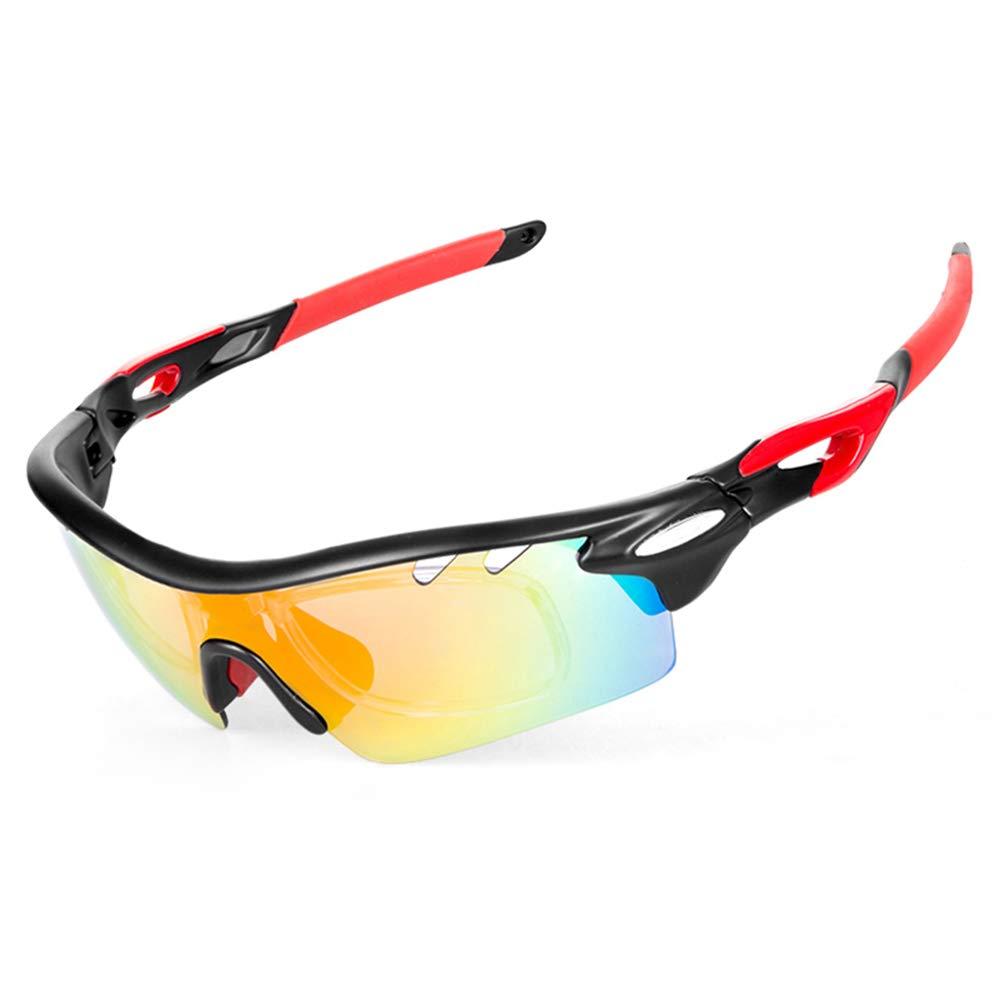 IKuaFly Gafas de Ciclismo Sol Polarizadas 5 Lentes Intercambiable 400 UV para Hombre