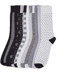 Amazon Brand - Find. Calcetines tobilleros de algodón para hombre, paquete de 12