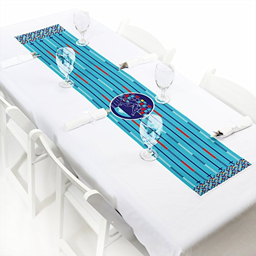 Making Waves - Swim Team - Petite Swimming Party or Birthday Party Paper Table Runner - 12