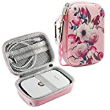 For HP Sprocket Portable Photo Printer Case, Hp Sprocket Case, Also fit for Polaroid ZIP Mobile Printer/ Polaroid Snap Instant Digital Camera - Flower, By Logity.