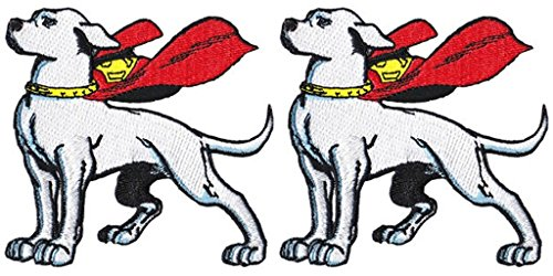 DC Comics The Justice League Krypto The Super Dog 2 Pack Patch Gift Set