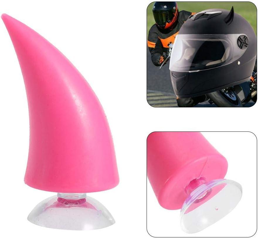 KIMISS Moto Casque Corne Moto Casque Diable D/émon Corne avec Sucker D/écoration Accessoires Rose