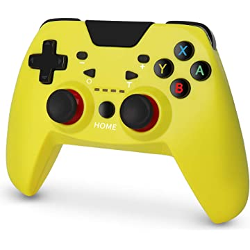 Switch Controller, RegeMoudal Switch Wireless Pro Controller with High Performance and Double Shock, Switch Wireless Controller Support Adjustable Turbo Function -Yellow …