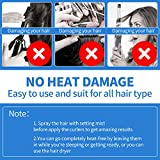 28 Pieces Hair Curlers Spiral Curls No Heat Wave
