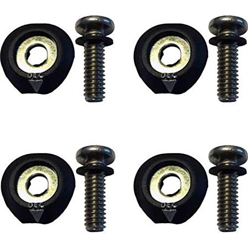Ronix 1/4x20 Baseless Boot Hardware-Set of 4 Black/Stainless