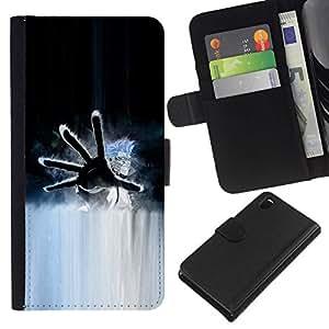 All Phone Most Case / Oferta Especial Cáscara Funda de cuero Monedero Cubierta de proteccion Caso / Wallet Case for Sony Xperia Z3 D6603 // Hand
